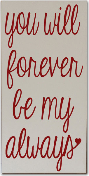 will forever