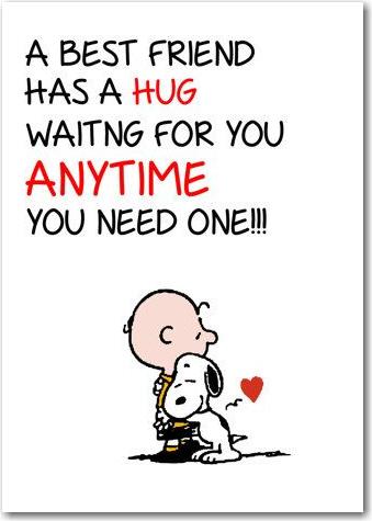 a best friend hug