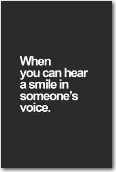 hear a smile